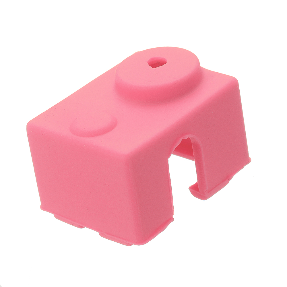 10pcs Pink Universal Hotend Block Insulation Sock Silicone Case For 3D Printer