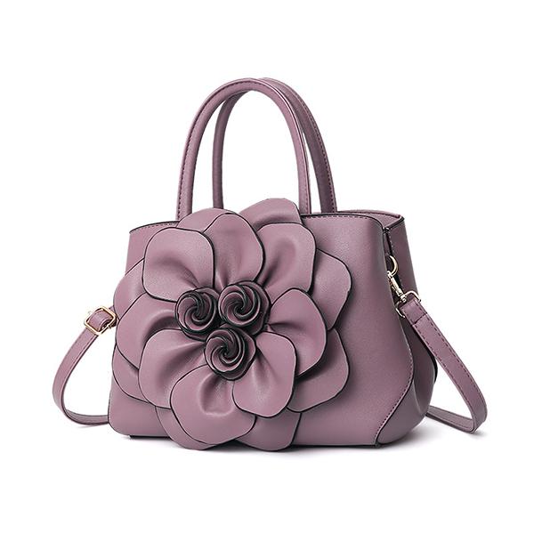 Women Flower Decorational Stylish Handbag Crossbody Bags