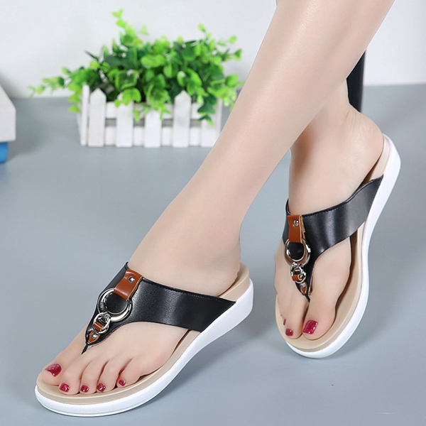 US Size 5-12 Beach Slipper Casual Summer Outdoor Leather Sandals