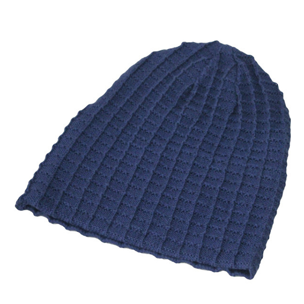 Mens Cotton Warm Thicken Solid Beanie Hats