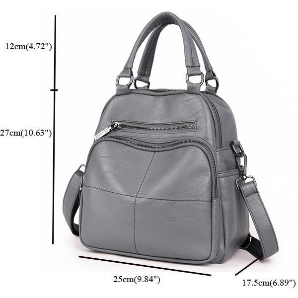 Multifunctional Women Pu Leather Handbag Crossbody Bag