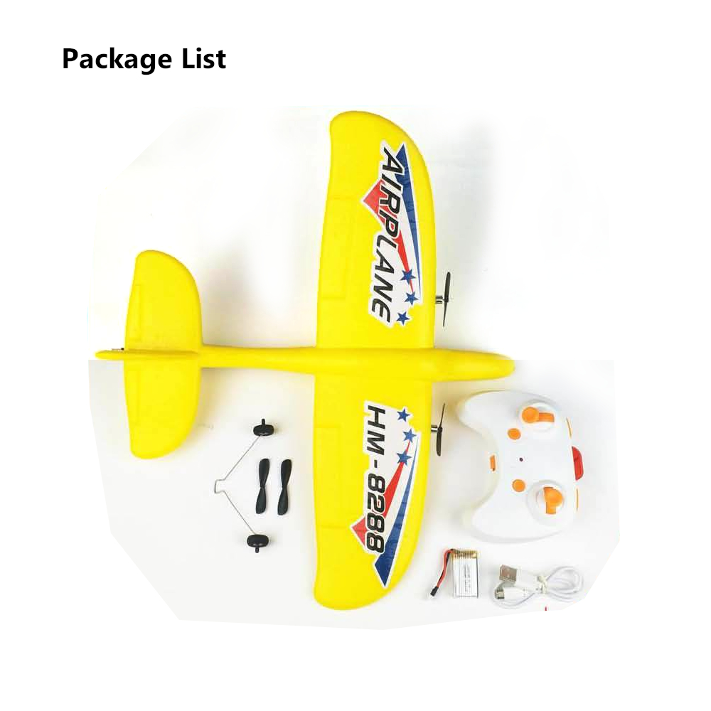 HM-8828 RC Airplane Ready to Fly 340mm Wingspan EPP Indoor Stunt Aircraft with LED RC Plane RTF