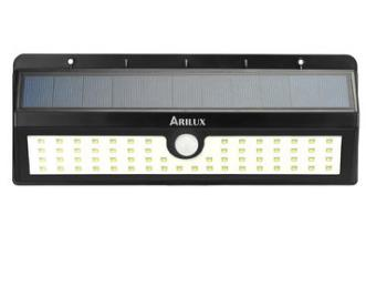 ARILUX® AL-SL 21 Solar 7W 90 LED PIR Motion Sensor Light Outdoor Waterproof Wide Angle Wall Lamp