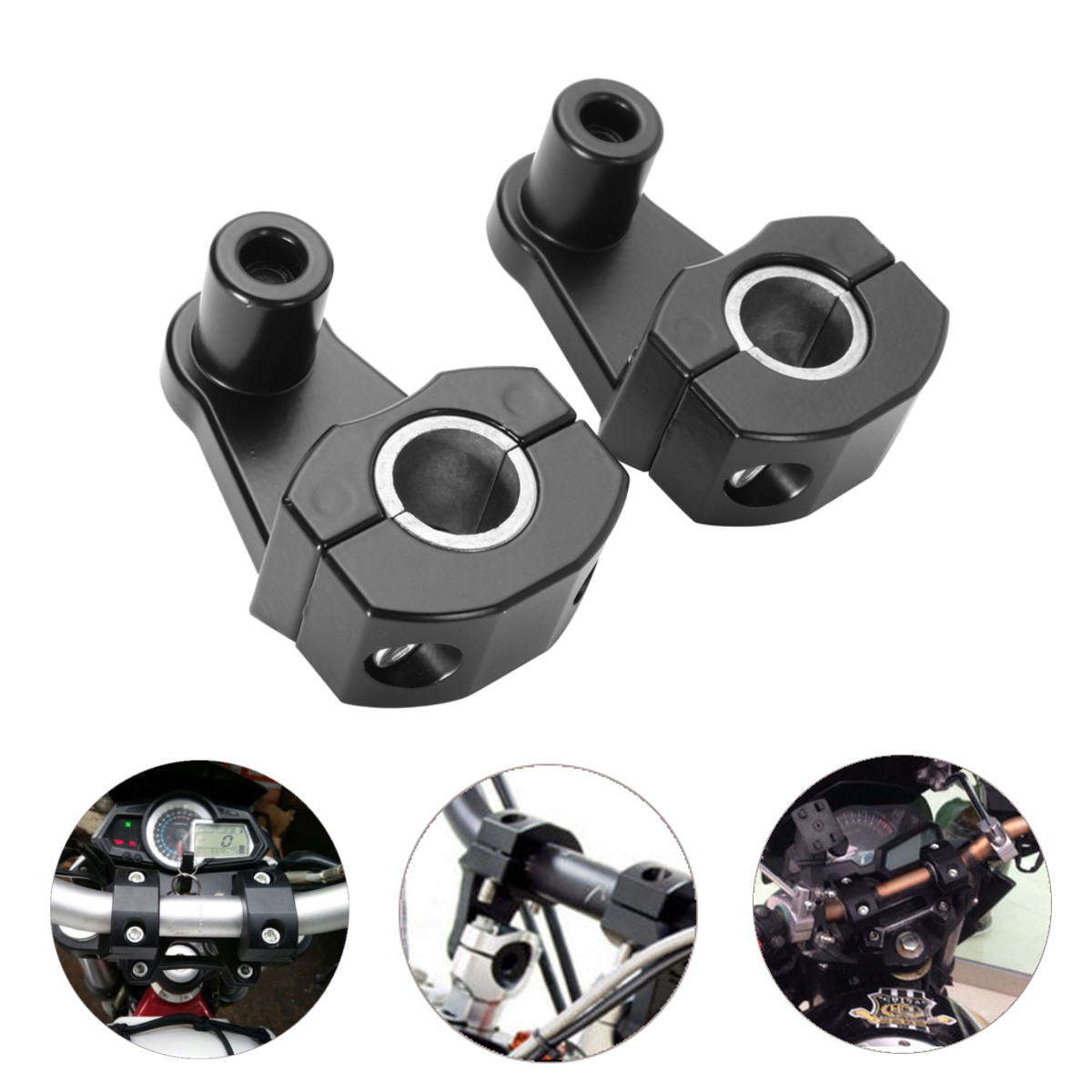 22MM Handlebar Clamps Riser Motorcycle Handle Fat Bar Mount Universal