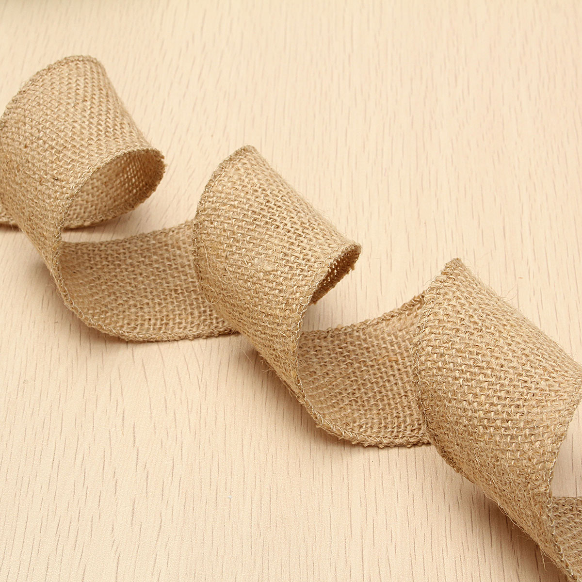 50mm Natural Jute Hessian Burlap Ribbon Roll Vintage Wedding Party Decor Craft Belt Strap