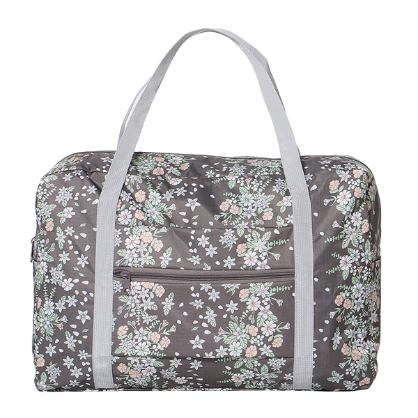 Women Nylon Little Flowers Travel Bag Floral Duffel Bag Luggage Bag Handbag