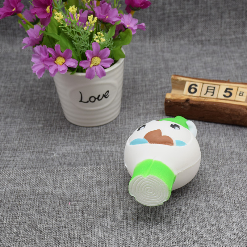 Squishy Scallion Man 12cm Cute Kawaii Slow Rising Collection Gift Decor Soft Squeeze Toy