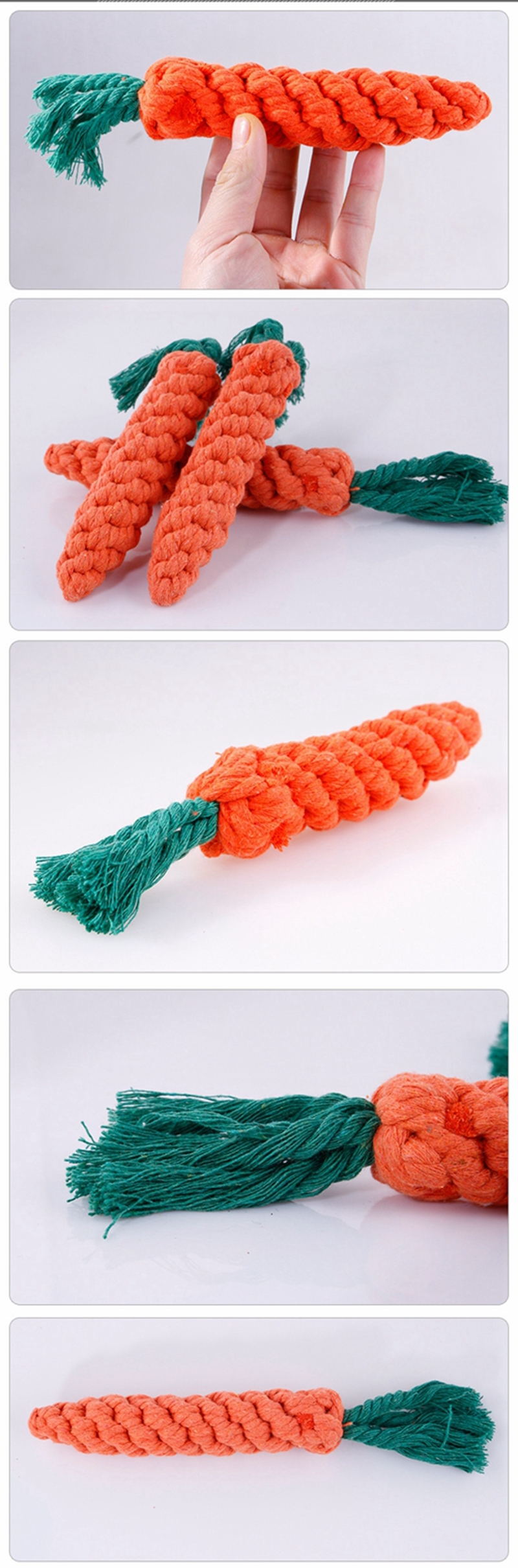 Creative Environmental Simulation Carrot Cat Dog Knot Double Knot Cotton Rope Pet Dog Chewing Toy