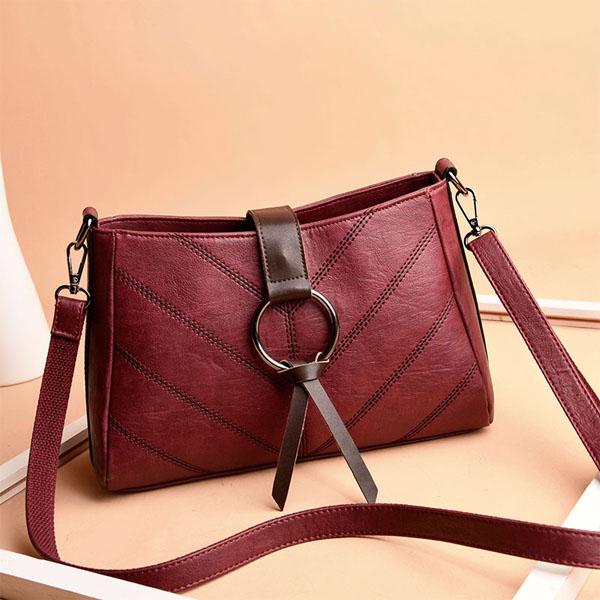 Women Stitching Leisure Plaid Crossbody Bag
