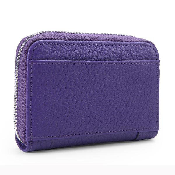 Genuine Leather Simple Multi-card Bit Solid Female Purse Wallet Card Bag