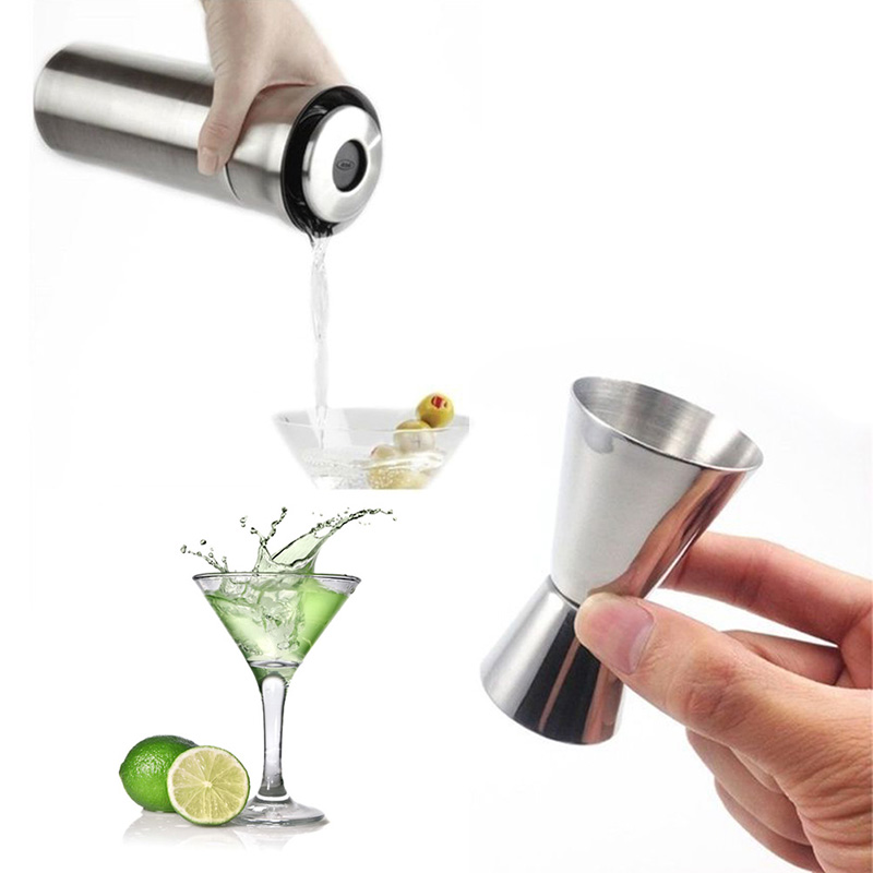Bathroom Drink Measure Cup Cocktail Shaker Jigger Single Double Shot Short Stainless Steel Spirit Party Wine Cup Clearwater Used goods