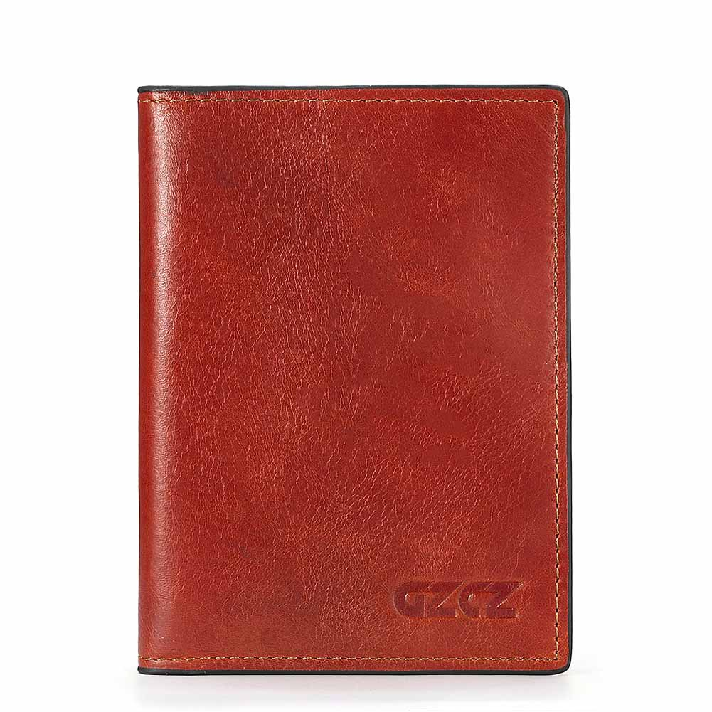 Genuine Leather Multi-slots Card Holder Short Wallet