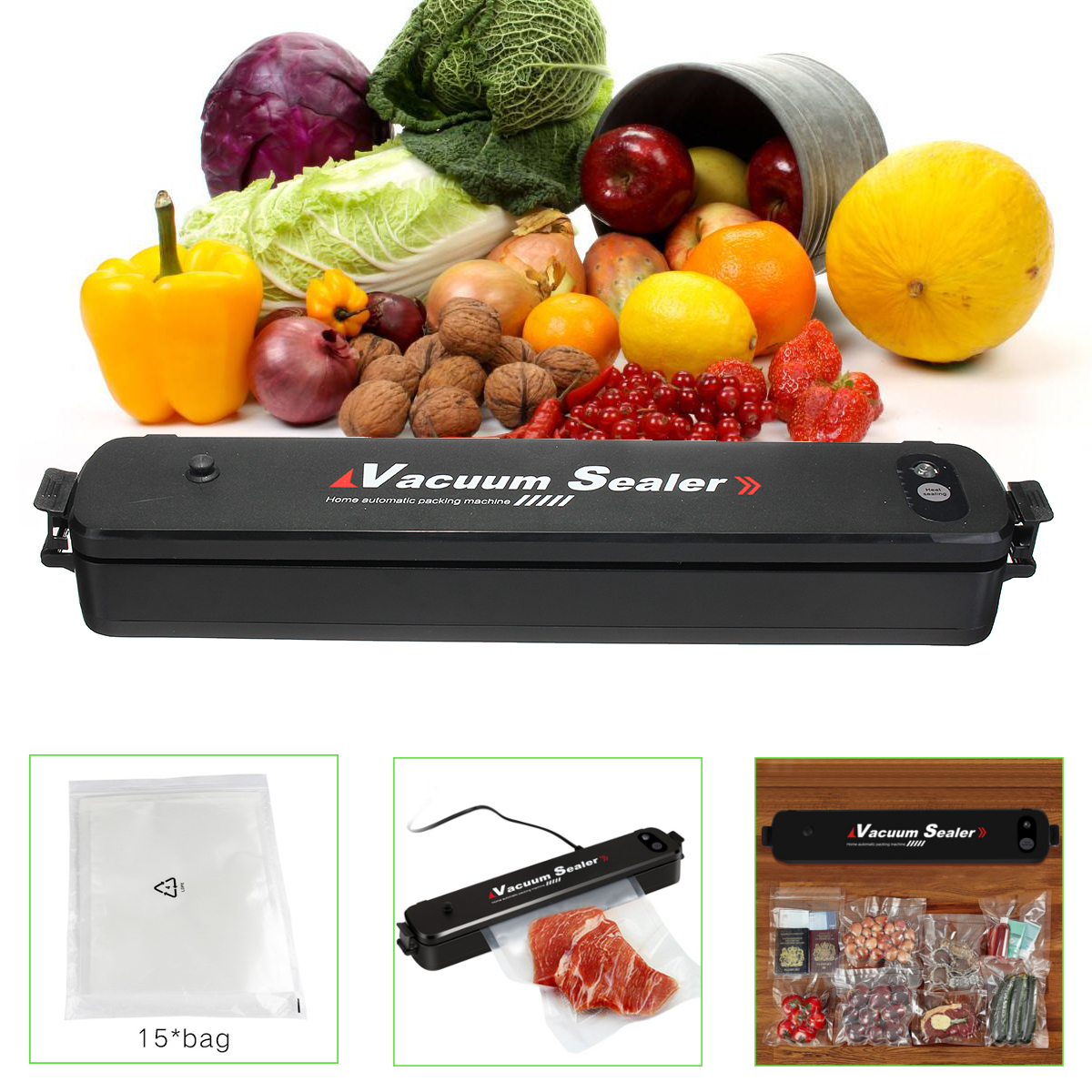 Vacuum Sealer Automatic Vacuum Sealing System Vacuum Sealing Machine for Food Preservation Storage