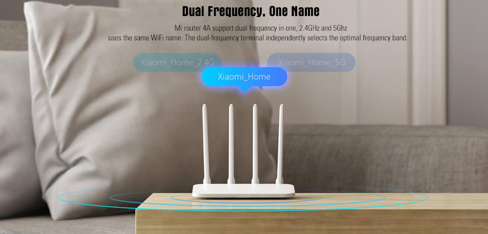 Xiaomi Mi 4A Wireless Router Gigabit Edition 2.4GHz + 5GHz WiFi High Gain 4 Antenna Support IPv6