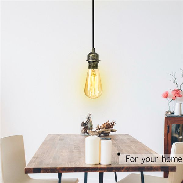 E27 Fabric Flex Ceiling Light Romantic Pendant Lamp Holder Fitting Lighting Decoration AC110-220V