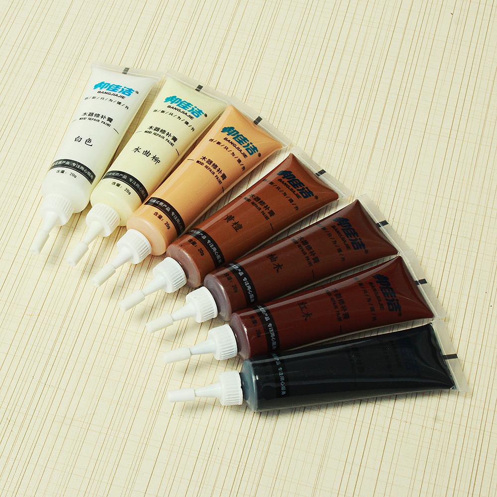 Wood Touch-Up Maker Paste Glue Furniture Flooring Cabinet Scratches Cover Up Repair Tool 7 Colors