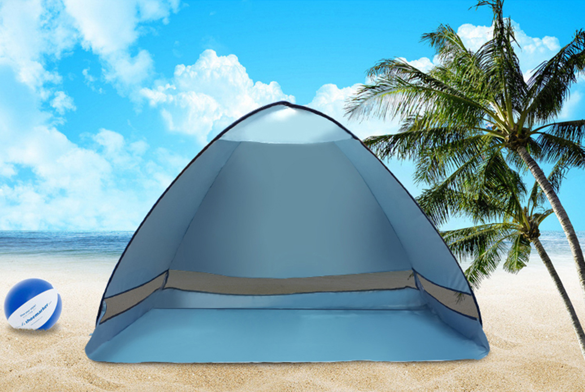 1-2 People Outdoor Instant Pop-up Portable Beach Tent Camping Anti-UV Sunshade Shelter