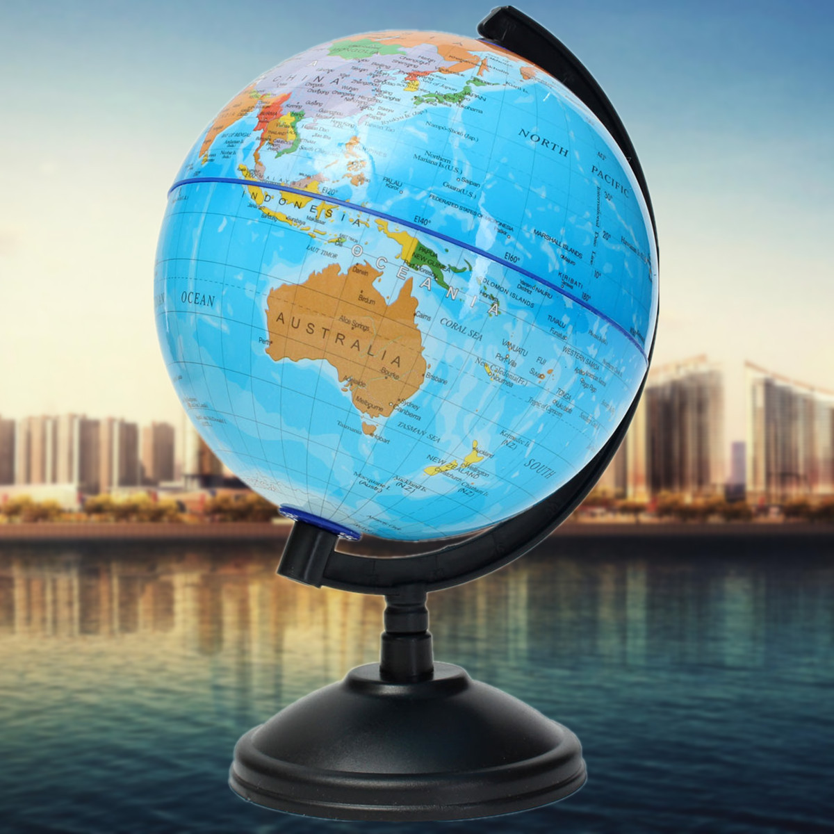 14cm World Globe Atlas Map With Swivel Stand Geography ...