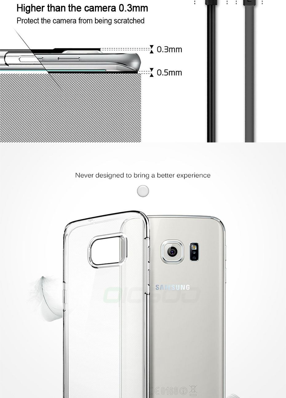 Bakeey™ Ultra Thin Transparent Soft TPU Case for Samsung Galaxy S6 Edge