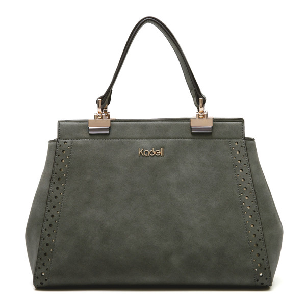 93d4b56193 Kadell Matte Leather Hollow Out Tote Handbags Casual Shoulder Bags ...