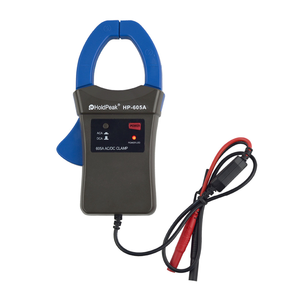 HoldPeak HP-605A Clamp Adapter Multimeter 600A AC/DC Current Power LED 45mm Jaw Caliber for High Amper