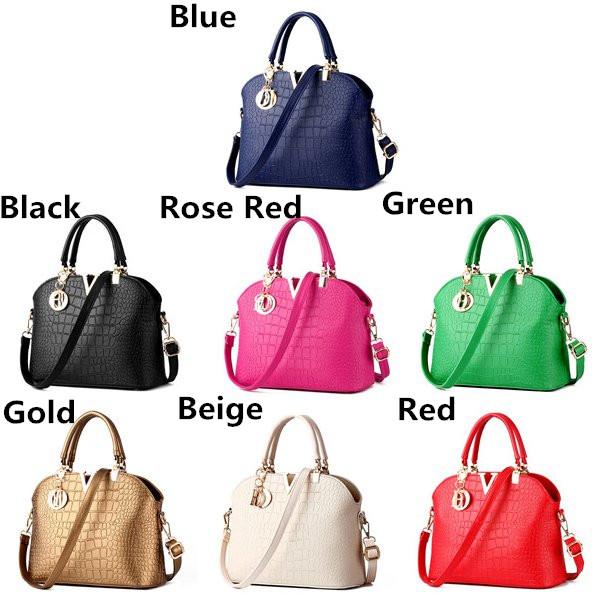 Women Crocodile Leather Handbags Ladies Elegant Shoulder Bags Crossbody Bags Messenger Bags