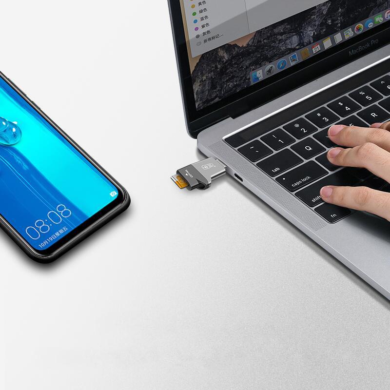 Kawau Type-C USB-C USB 3.1 High Speed OTG Memory Card Reader For Type-C Smart Phone Tablet Laptop Macbook