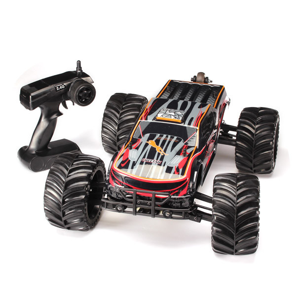 JLB Racing CHEETAH 120A Upgrade 1/10 Brushless RC Car Monster Truck 11101 RTR With Battery