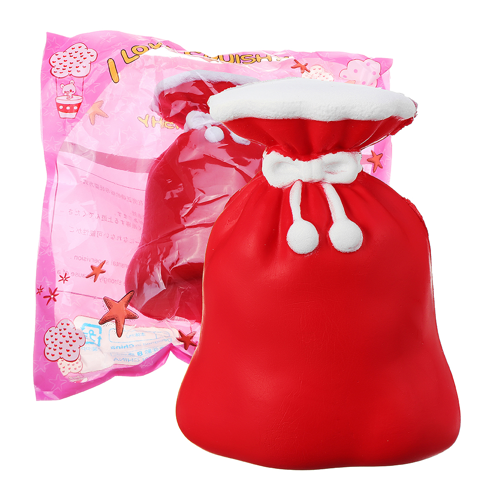 Banggood price history to Squishy Christmas Gift Bag 12CM Purse Jumbo Slow Rising Soft Toy Collection With Packaging