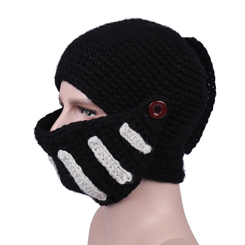 Outdoor Cycling Rome Knight Knitting Hat Winter Ski Mask Cap Manual Knitting Men Hats