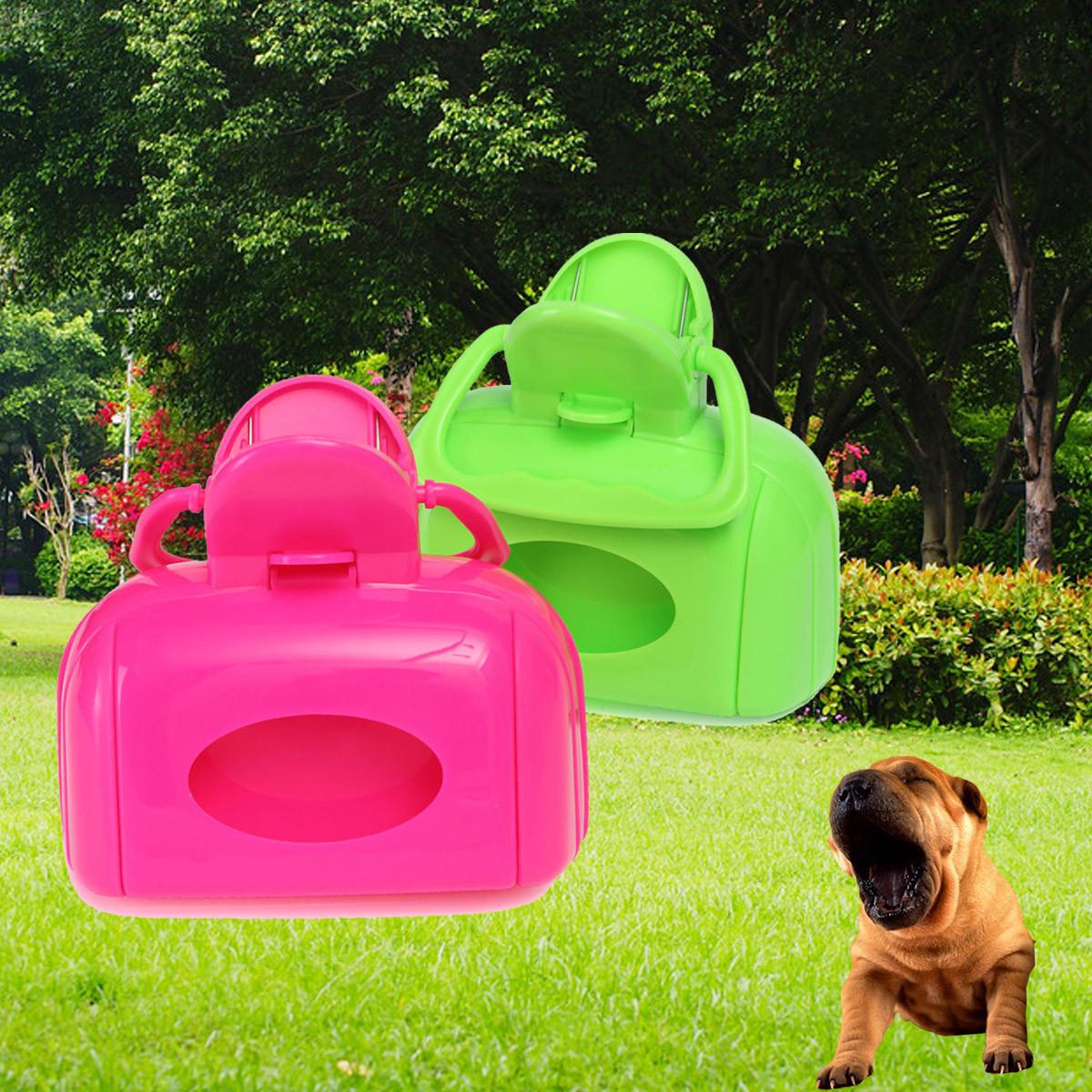 Portable Pet Dog Cat Waste Bag Case Pooper Scooper Poop Scoop Pickup Clip Easy Clean Tool