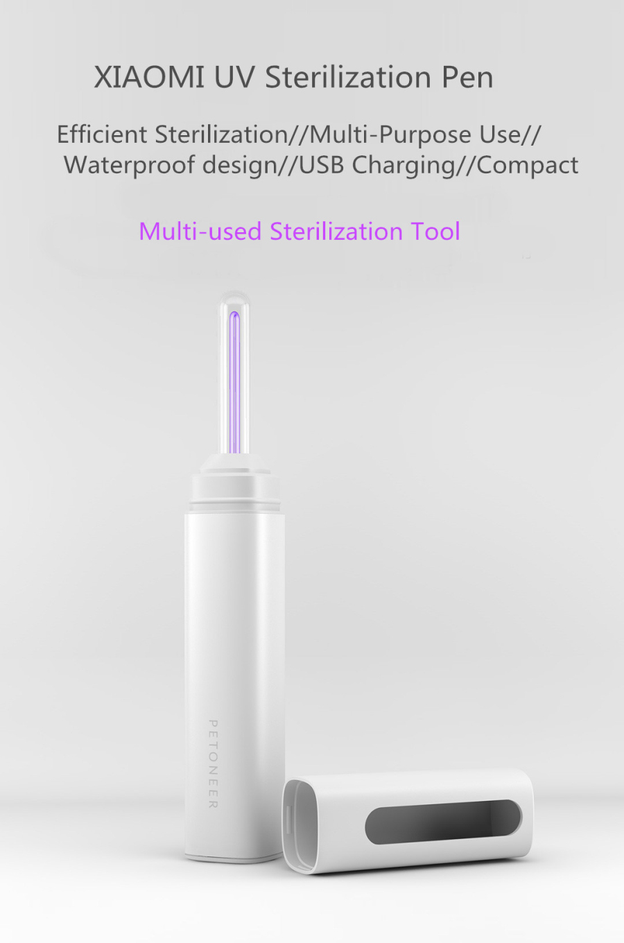 Cold Cathode 253.7nm UV Sterilization Pen USB Destroys Bacteria Health Protection Healthy Life Must-have Tool