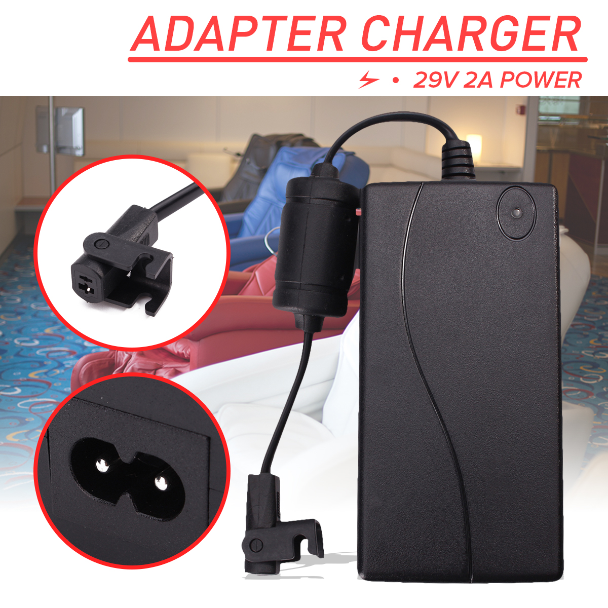 Electric Massager Power Supply Accessories For Recliner Sofa