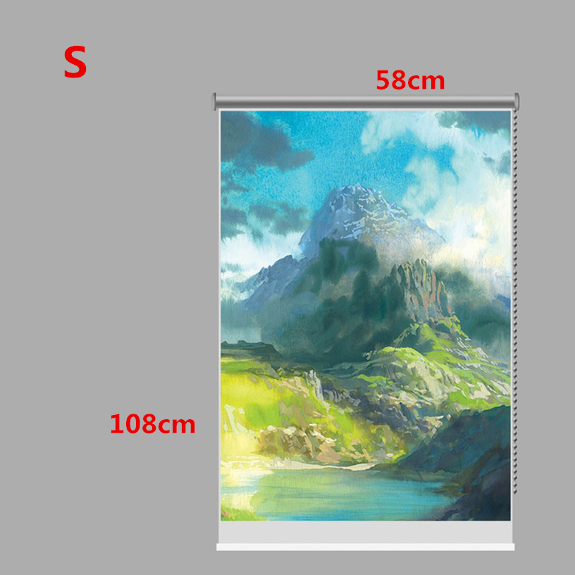 PAG Mountain Wall Decor Window Curtain Roller Shutters Print Painting Roller Blind Background
