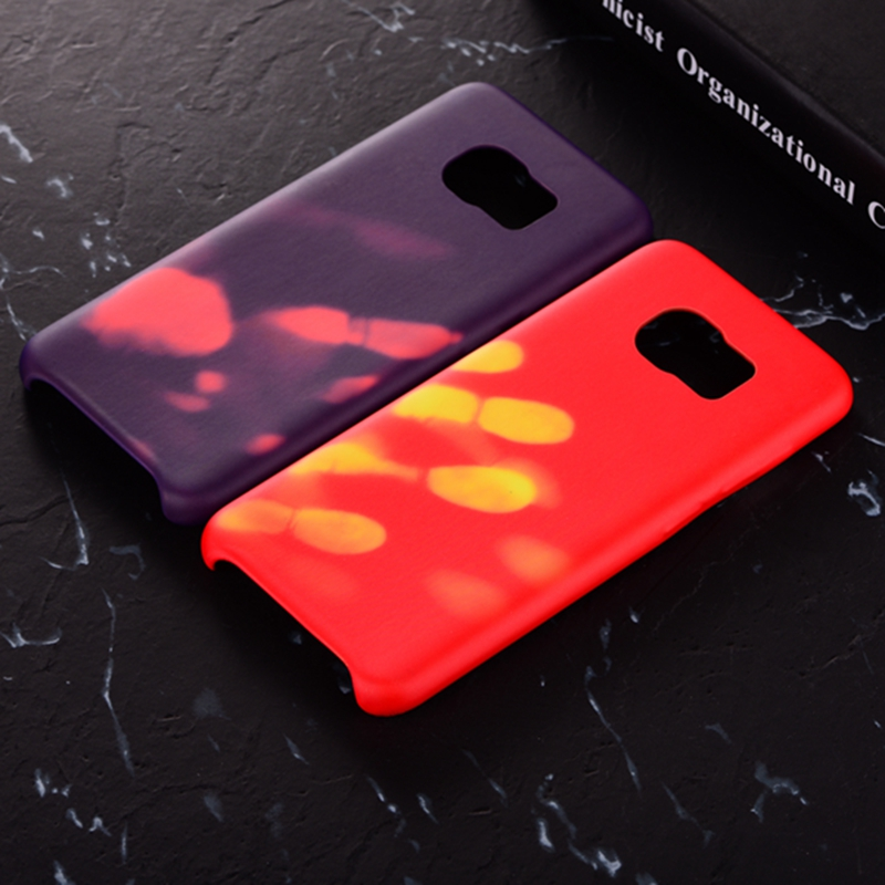 Physical Thermal Sensor Discoloration Soft TPU Anti Knock Back Cover Case for Samsung Galaxy S8 Plus