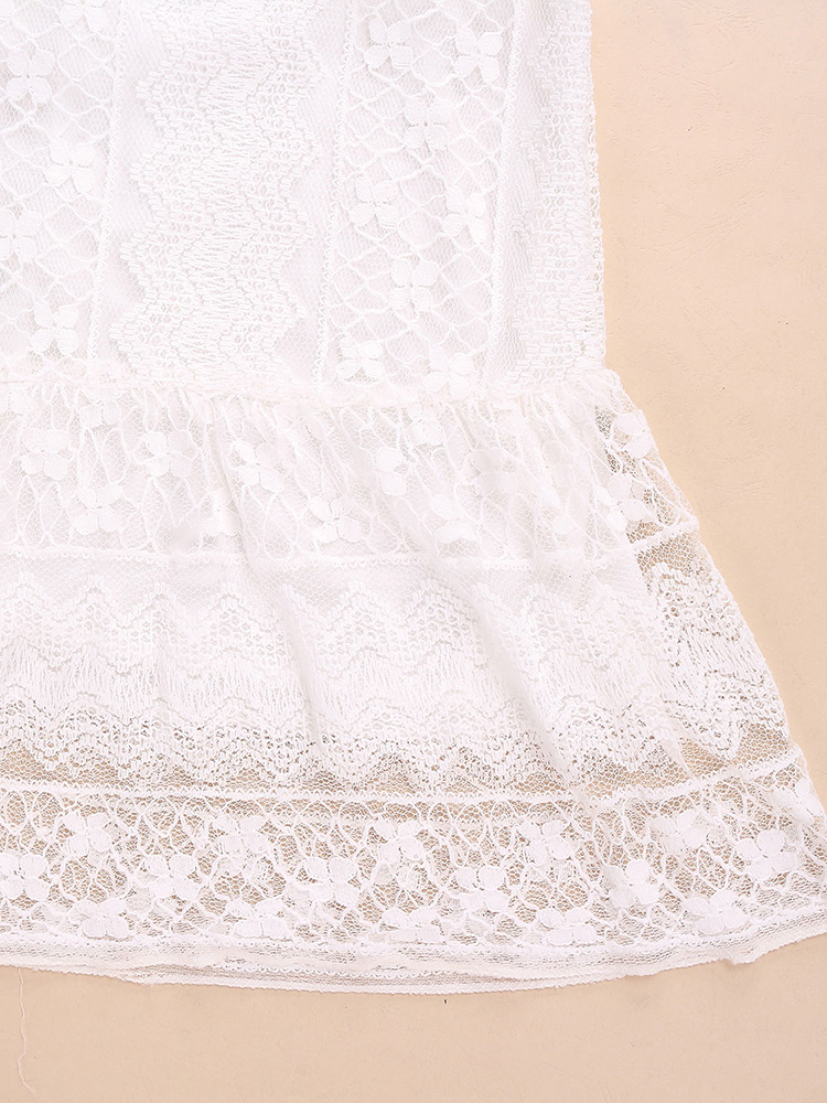 Women Sleeveless Crochet Mini Sexy Dress