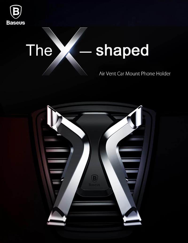 Baseus X Memory Mechanical Linkage Car Phone Holder Air Vent Stand for Samsung Xiaomi iPhone 7 8 X