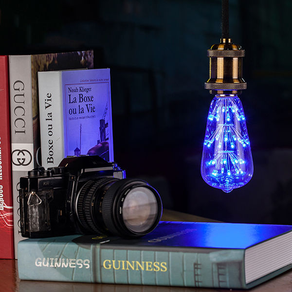 E27 ST64 3W 300LM Starry Sky Firework LED Decorative Globe Light Bulb for Party Christmas AC85-265V