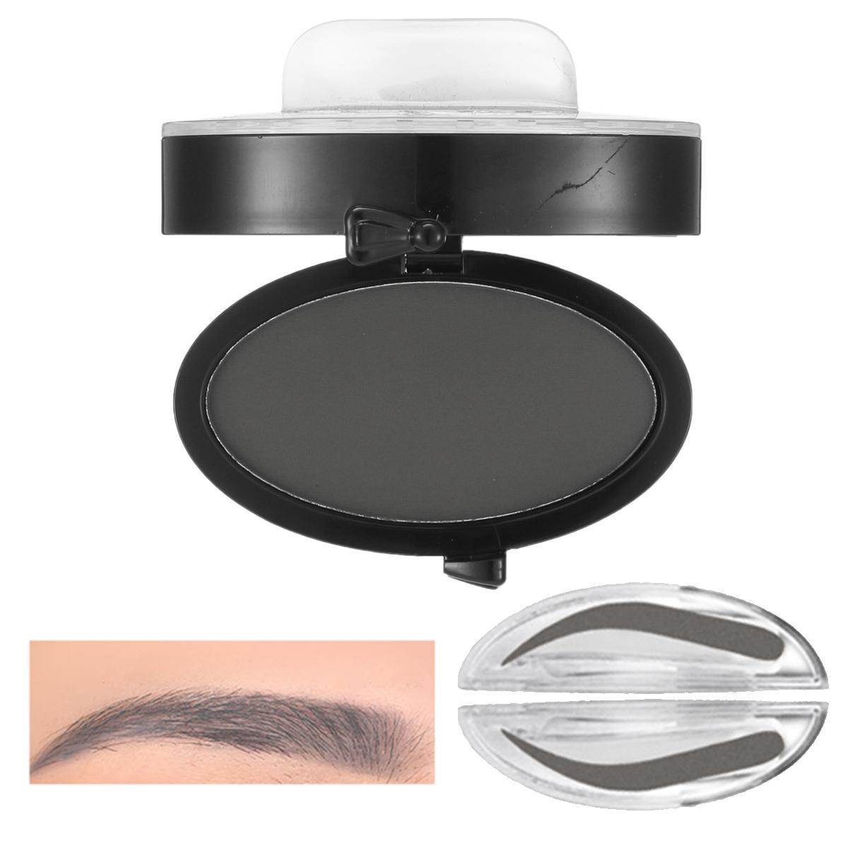 Brow Stamp Powder Grey Brown Makeup Eyebrow Gel Seal Waterproof Eyes Cosmetic Black Head Brush Tools