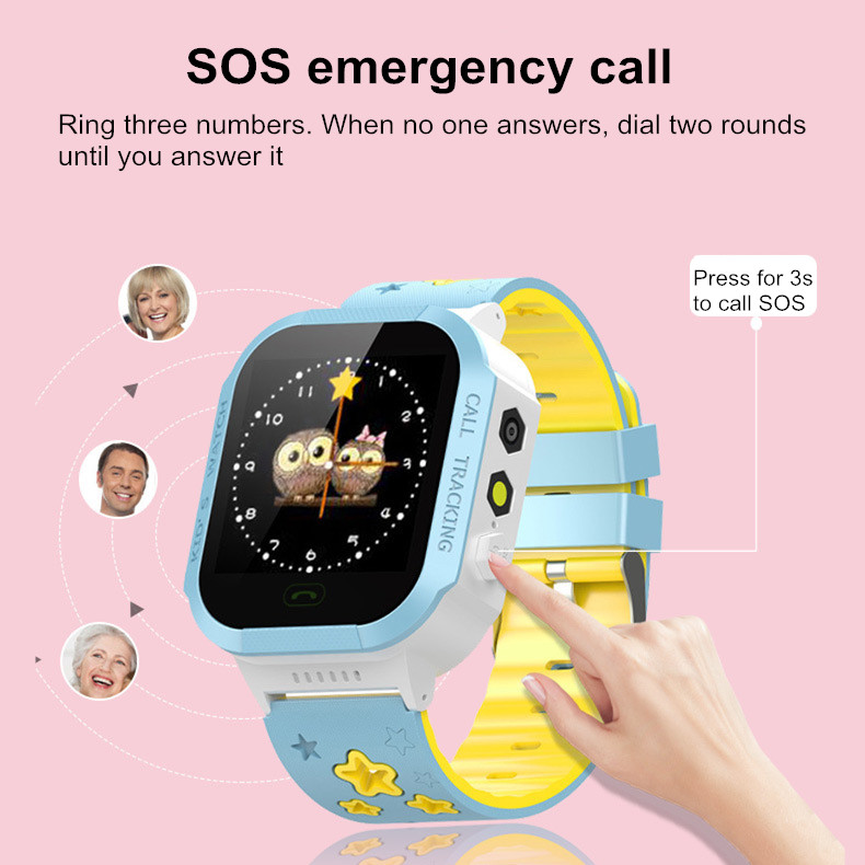 BONSS E06 Kids bluetooth Camera Sport GPS SOS Phone Call Smart Watch For iphone X 8/8Plus Samsung S8