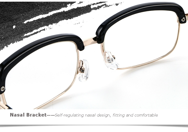 SHUAIDI Anti-fatigue Reading Glasses Black Frame Retro Presbyopic Eyeglass 8828