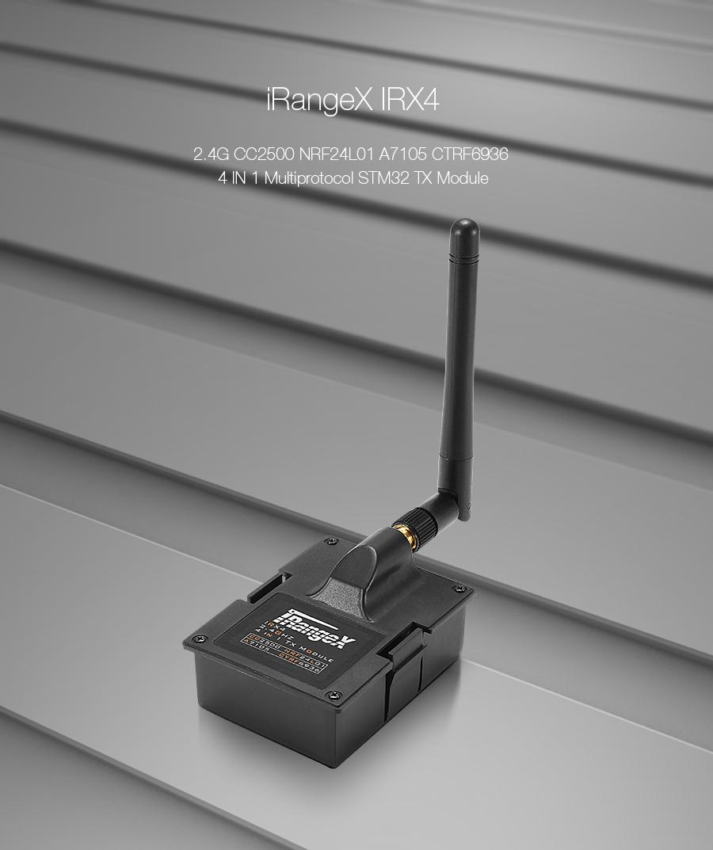 iRangeX IRX4 2.4G CC2500 NRF24L01 A7105 CYRF6936 4 IN 1 Multiprotocol STM32 TX Module With Case
