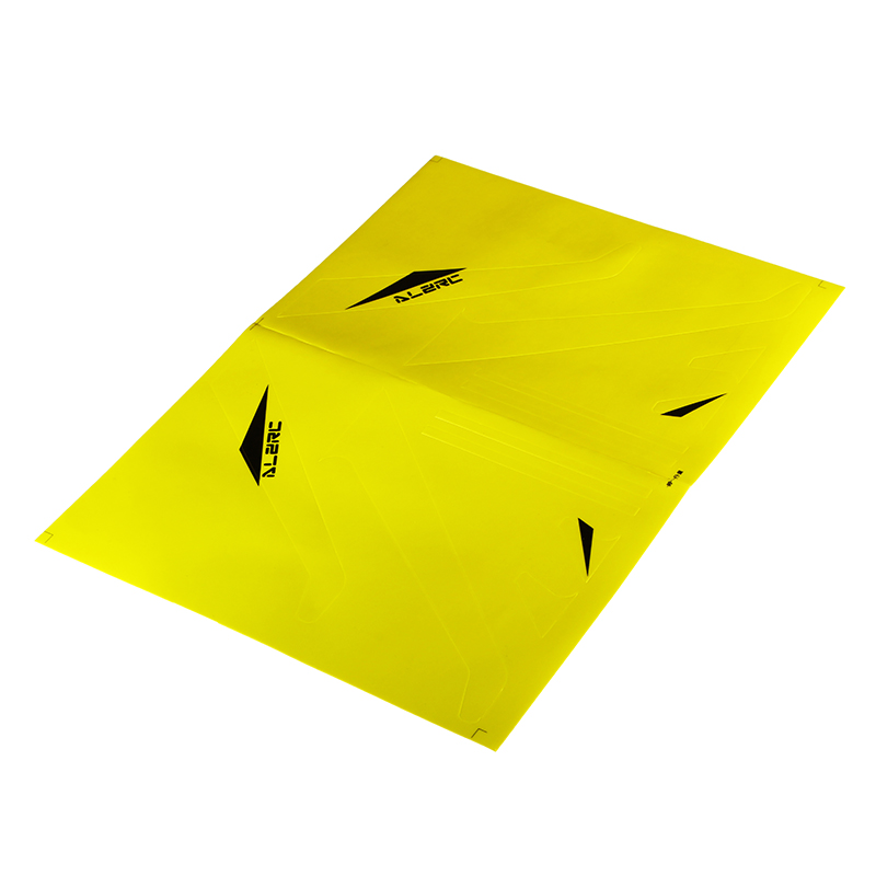 ALZRC Devil 505 FAST RC Helicopter Parts Carbon Fiber Vertical Stabilizer Color Sticker Yellow