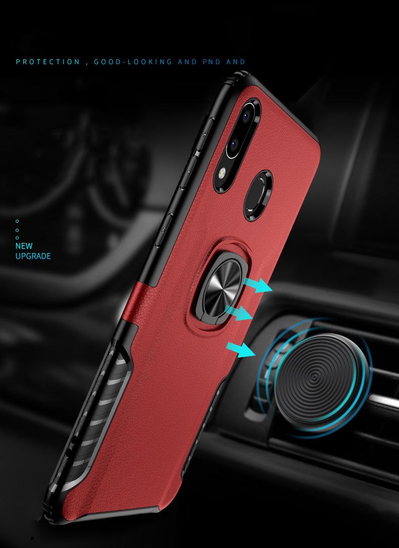Bakeey Protective Case For Samsung Galaxy M20 2019 Ring Grip Bracket Magnetic Adsorption Back Cover