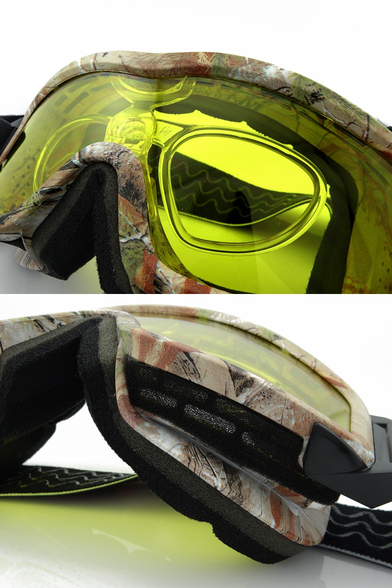 Super Anti Fog Goggles Night Vision Fitted With Glasses Radiation Protection Climbing Goggles