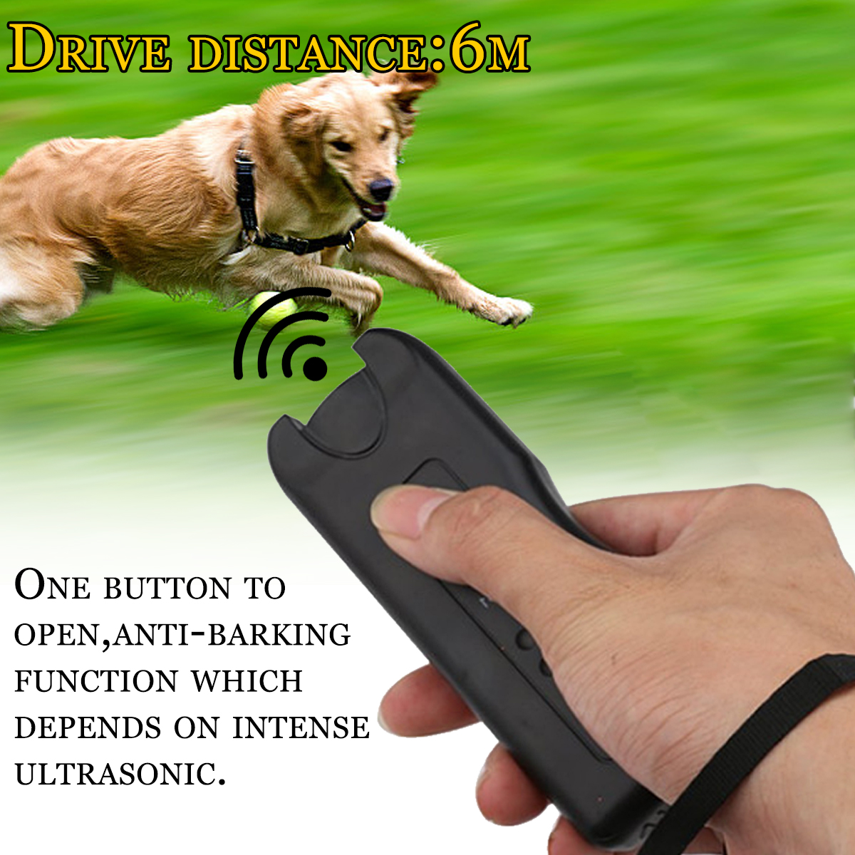 3 In 1 LED Ultrasonic Anti Barking Pet Dog Train Repeller Control Trainer Device
