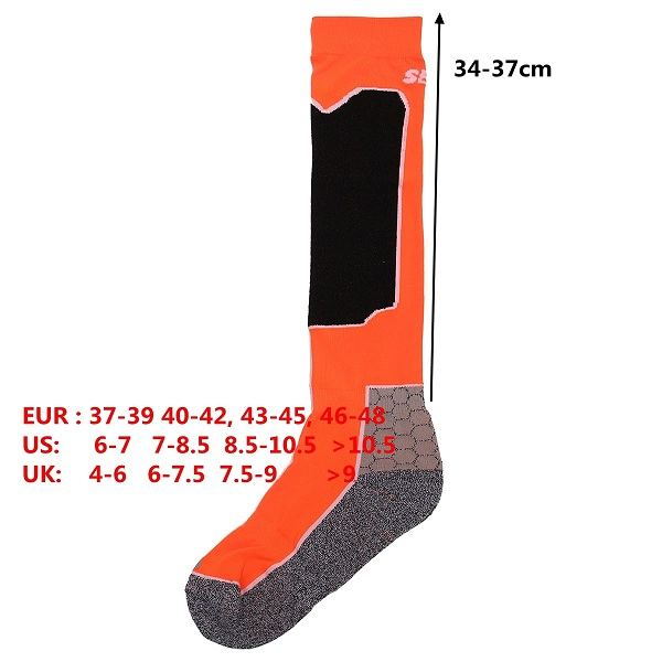 Unisex Long Thicken Warm Wool Breathable Socks Outdoor Sport Skiing Riding Socks