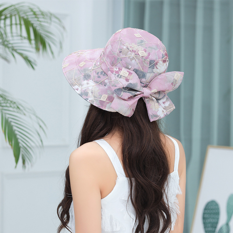 Women Summer Sunshade Lace Bucket Hat Fisherman Cap