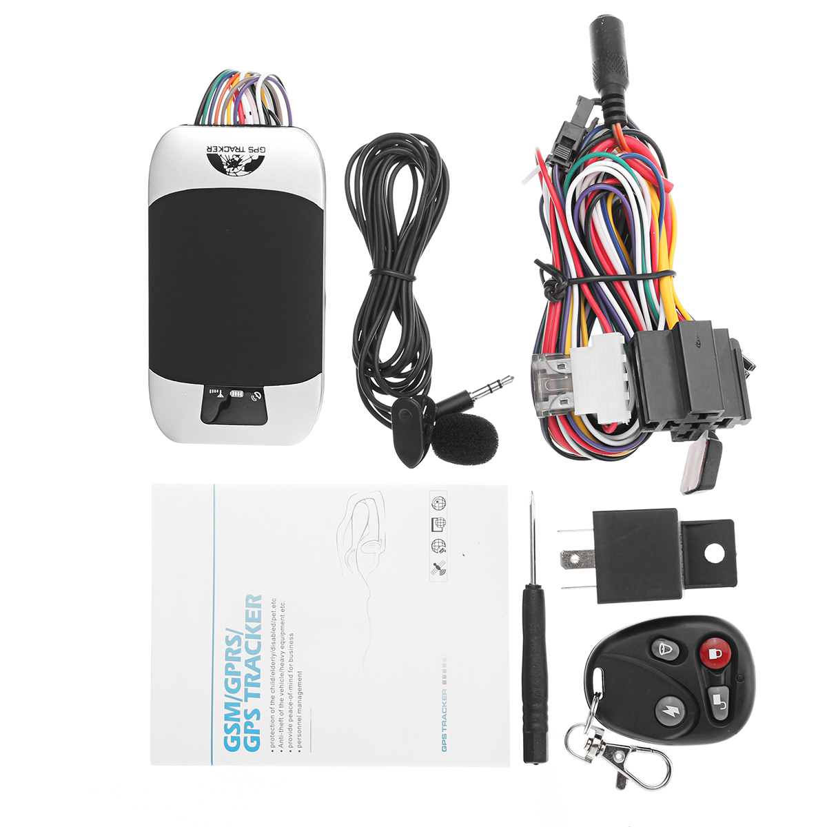 GSM GPRS GPS Car Tracker Rewire Security Vehicle Van Tracking Device System Kit