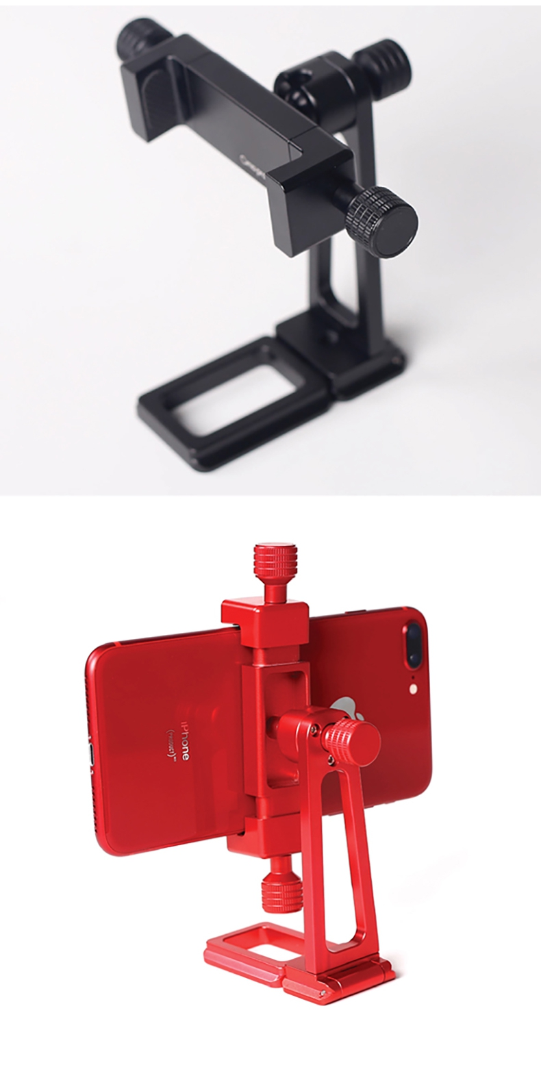 XILETU CP-2 Cima-Pro Smartphone Metal Clamp SLR Rotatable Mount 1/4 Screw Hole For Universal Tripod - Photo: 7